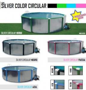 Silver color circular