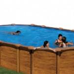 Piscinas desmontables de madera decorada top piscinas for Piscinas desmontables en amazon