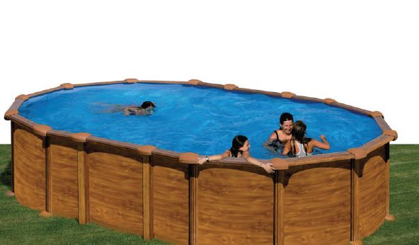 Piscinas desmontables de madera decorada top piscinas - Piscinas desmontables de madera ...