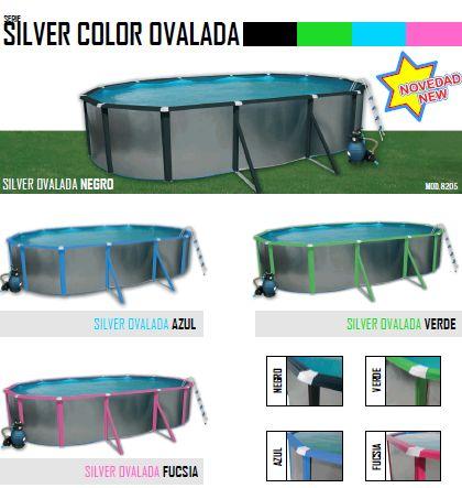 Silver color ovalada