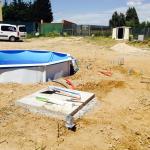 como semienterrar una piscina desmontable de acero